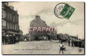Old Postcard Grandcamp les Bains Quays