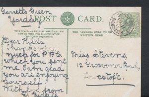 Family History Postcard - Stevens - 12 Grosvenor Road, Lowestoft    RF995