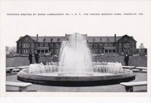 Indiana Franklin Fountain Erected By Raper Commandery No 1 The Indiana Masoni...