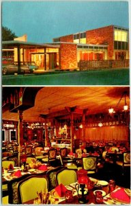 Kalamazoo, Michigan Postcard HOLIDAY INN CROSSTOWN Motel / Restaurant View 1971