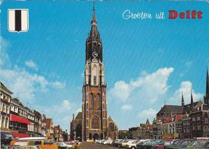 Netherlands Delft Nieuwe Kerk op de markt