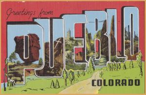 Large Letter - Greetings from Pueblo Colorado -