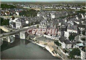 Postcard Modern Saumur (M and L) view Generale Aerienne