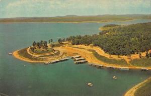 Lakeview Arkansas Boat Dock and Marina Vintage Postcard J46901