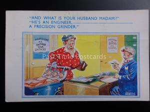 Dudley WHAT IS YOUR HUSBAND MADAM? - HE'S AND ENGINEER PRECISION GRINDER c1959