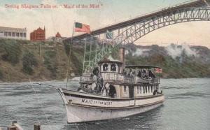 Maid Of The Mist Niagara Falls Antique 1909 Postcard