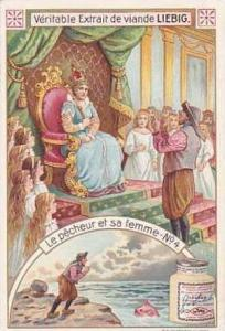 Liebig Vintage Trade Card S834 The Fisherman & His Wife Card No 4 Le Pecheur ...