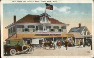 Ocean Bluff MA Post Office & General Store c1920 Postcard
