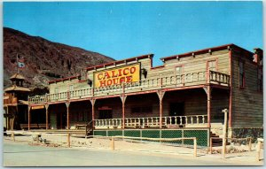 Vintage CALICO GHOST TOWN, California Postcard Calico House Hotel View Unused