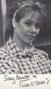 Sally Baxter as Lisa O Shea Vintage Albion Market Printed Signed Photo Cast Card
