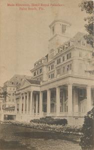 Palm Beach Florida~Hotel Royal Poinciana~Front Entrance~c1910 Postcard