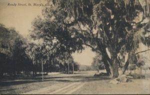 St. Mary's Georgia GA ~ Ready Street ~ Riverview Pharmacy Vintage Postcard
