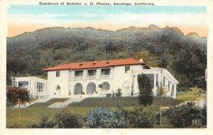 Senator JD Phelan Residence, Saratoga, CA Santa Clara Co c1920s Vintage Postcard