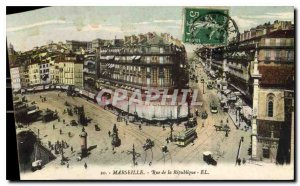 Postcard Old Marseille Rue de la Republique