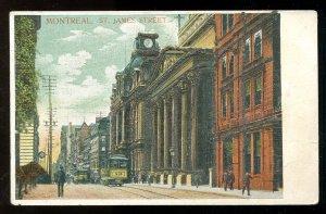 dc128 - MONTREAL Quebec c1907-10 St James Street