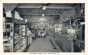 LP45 Drugstore Hillsville  Virginia  Postcard Nuckolls