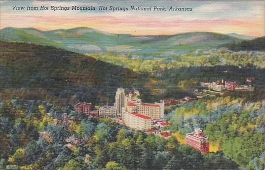 Arkansas Hot Springs National Park Southern View From Hot Springs Mountain 1964
