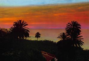 Spain Tenerife Puesta de Sol Dusk Crepuscule Postcard