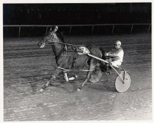 LIBERTY BELL Park Harness Horse Race, LOPEZ SONG wins , 1984