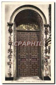 Postcard Old Granada Cartuja Puerta De La Sacristia
