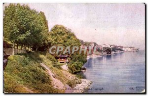 Evian les Bains - Saint Gingolphe - Old Postcard