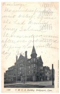 1905 YMCA Building, Bridgeport, CT Postcard