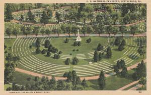 GETTYSBURG, Pennsylvania, 1930-1940's; U.S. National Cemetery