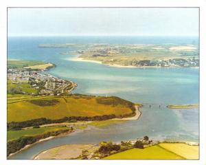 Cornwall Postcard, Camel Estuary from the Air, Aerial View S27