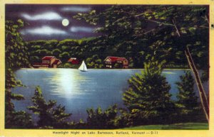 [ Linen ] US Vermont Rutland - Moonlight Night