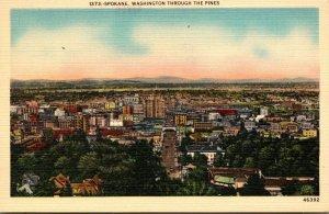 Washington Spokane Aerial View Through The Pines