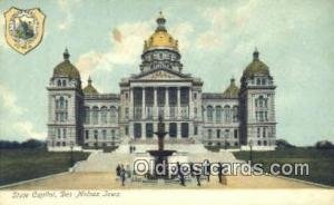 Des Moines, Iowa, IA State Capital, Capitals Postcard Post Card USA  Des Moin...