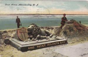 New Jersey Atlantic City The Sand Artist Lion Sculpture 1908