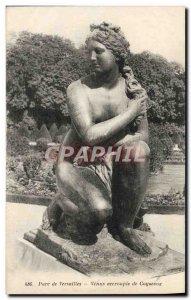 Old Postcard Park De Versailles From Venus Crouching Coysevox