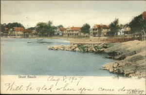 Short Beach CT Shorefront Homes 1907 Used Postcard