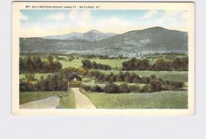 ANTIQUE POSTCARD VERMONT RUTLAND MT KILLINGTON - HEIGHT 4442 FT