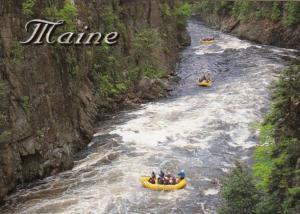 Maine White Water Rafting On West Branch Of Penobscot River At Ripogenus Gorge
