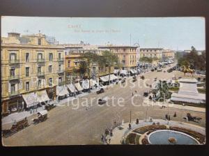 Egypt: Caire, Rue Kamel et place de L'Opera, Old Postcard