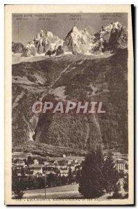 Old Postcard Chamonix and Needles