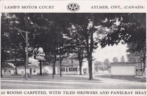 AYLMER , Ontario , 20-40s ; Lamb's Motor Court