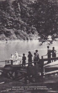 Boating On The Connoquenessing Camp Kon-O-Kwee Y M C A Of Pittsburgh Pennsylv...