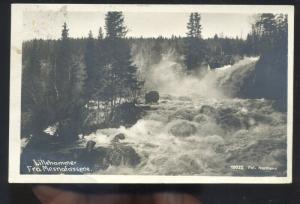 RPPC LILLEHAMMER FRA MESNAFOSSENE NORWAY NORGE REAL PHOTO POSTCARD STAMP