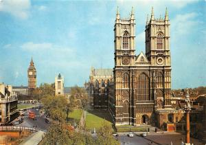 England Westminster Abbey, viewpoint West Towers, Big Ben, Parliament Square