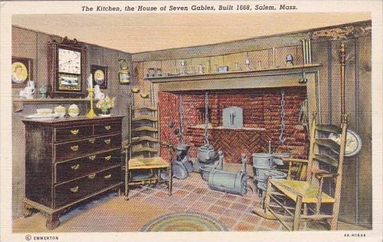 Maasachusetts Salem The Kitchen House Of The Seven Gables Built 1668
