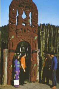 Whakarewarewa Rotorua NZ New Zealand Archway Hinemoa Tutanekai Postcard D22