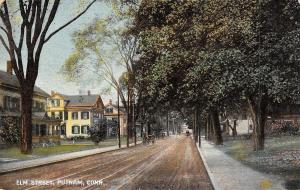 Putnam Connecticut~Elm Street Homes~Horse Buggies~1909 S&L Co Postcard