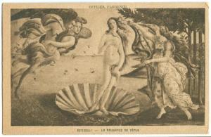 Botticelli, La Naissance de Venus, early 1900s unused