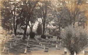 G94/ Patriotic Postcard c1910 Cemetery Flag Memorial Day Graves RPPC 12