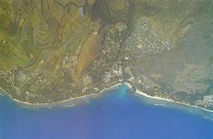 Ile de La Reunion Ocean Indien Vue aerienne Saint Gilles Aerial view