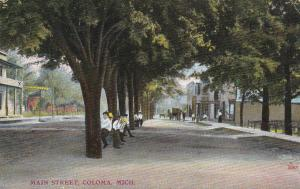 COLOMA, Michigan, PU-1908; Main Street
