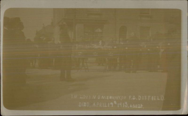 Funeral F. Duffield 1913 Real Photo Postcard